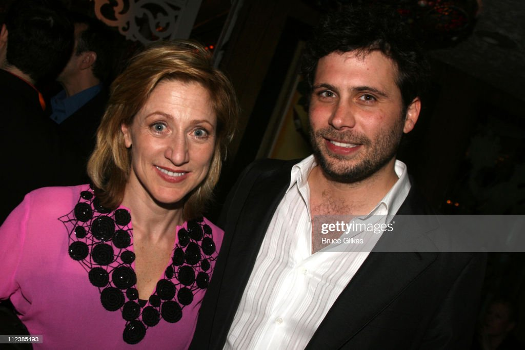 Edie Falco and Jeremy Sisto during 'Festen' Broadway Opening Night After Party at Opening Night Curtain Call and Party for 'Festen' on Broadway in...