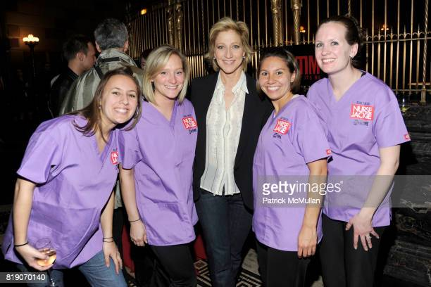 Edie Falco and The Leukemia and Lymphoma Society Charity Team attend SHOWTIME 'NURSE JACKIE' Rx Games at Gotham Hall on March 18 2010 in New York City