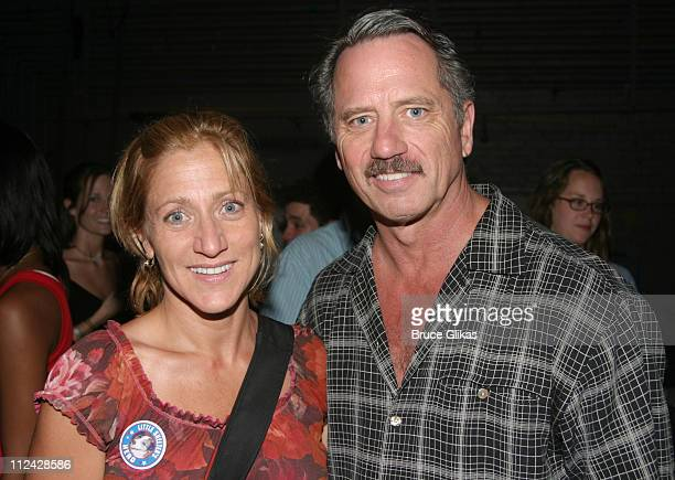 Edie Falco and Tom Wopat during Broadway Barks 5 in Shubert Alley at Shubert Alley in New York City New York United States