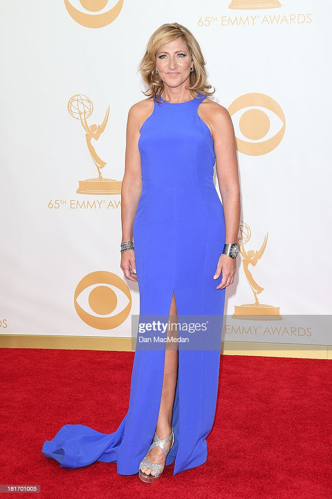 Edie Falco arrives at the 65th Annual Primetime Emmy Awards at Nokia Theatre L.A. Live on September 22, 2013 in Los Angeles, California.