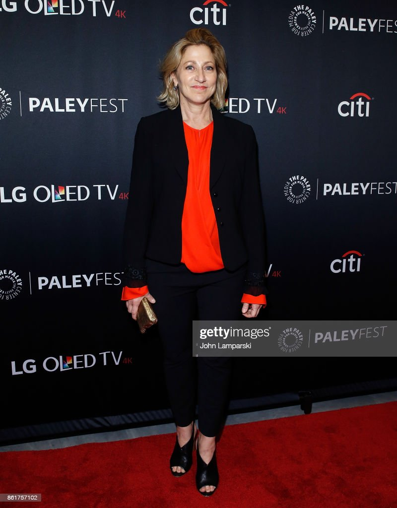 Edie Falco attends the PaleyFest NY 2017 'Oz' reunion at The Paley Center for Media on October 15, 2017 in New York City.