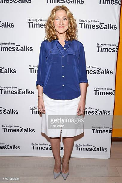 Edie Falco attends TimesTalks A conversation with Edie Falco at TheTimesCenter on April 17 2015 in New York City