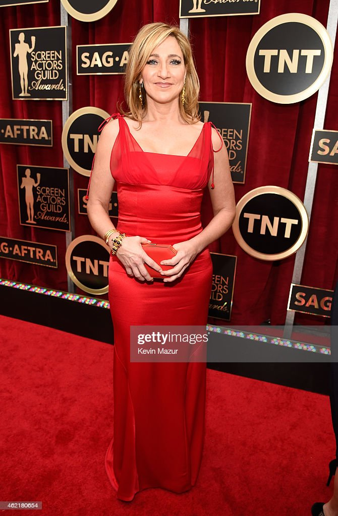 <a gi-track='captionPersonalityLinkClicked' href=/galleries/search?phrase=Edie+Falco&family=editorial&specificpeople=202111 ng-click='$event.stopPropagation()'>Edie Falco</a> attends TNT's 21st Annual Screen Actors Guild Awards at The Shrine Auditorium on January 25, 2015 in Los Angeles, California. 25184_016