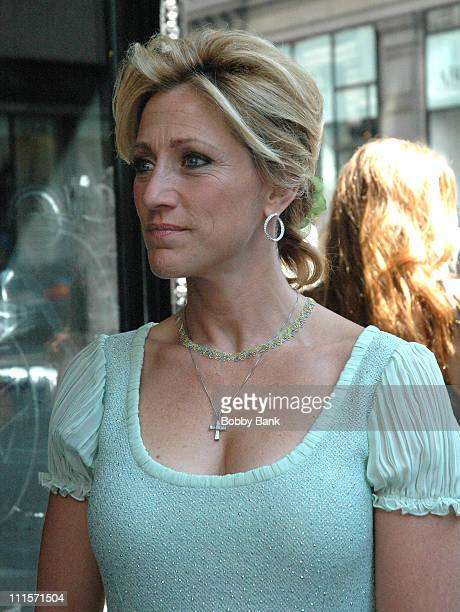 Edie Falco during 'The Sopranos' On Location August 8 2006 at Loews 19th Street East in New York City New York United States