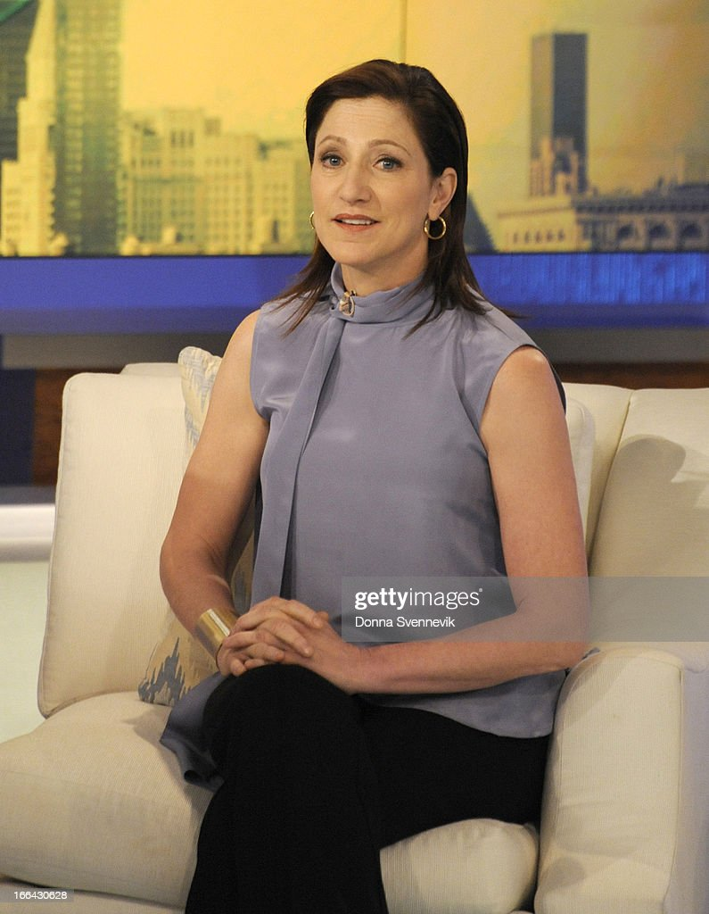 KATIE - 4/12/13 - Edie Falco forgot to bring a pair of shoes for her appearance on KATIE, distributed by Disney-ABC Domestic Television. (Photo by Donna Svennevik/Disney-ABC via Getty Images) EDIE