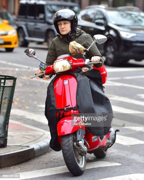 Edie Falco is seen in the West Village on December 5 2017 in New York City