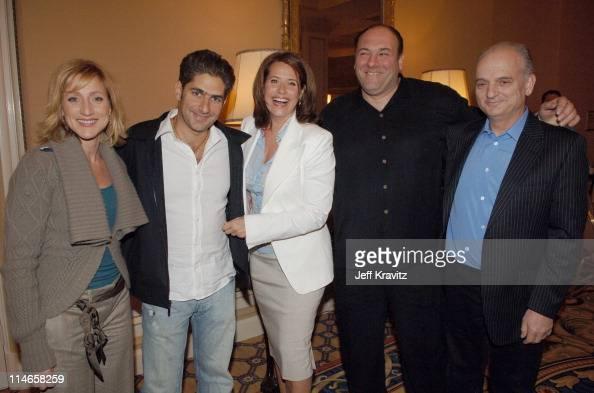 Edie Falco Michael Imperioli Lorraine Bracco James Gandolfini and David Chase