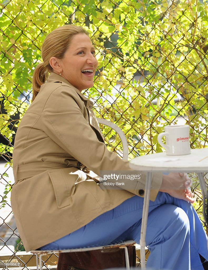 <a gi-track='captionPersonalityLinkClicked' href=/galleries/search?phrase=Edie+Falco&family=editorial&specificpeople=202111 ng-click='$event.stopPropagation()'>Edie Falco</a> on the set of 'Nurse Jackie' on October 21, 2013 in New York City.