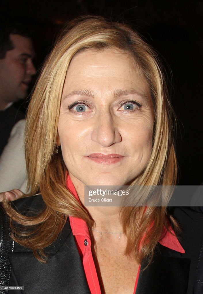 <a gi-track='captionPersonalityLinkClicked' href=/galleries/search?phrase=Edie+Falco&family=editorial&specificpeople=202111 ng-click='$event.stopPropagation()'>Edie Falco</a> poses at The Opening Night of 'The Last Ship' on Broadway at The Neil Simon Theatre on October 26, 2014 in New York City.