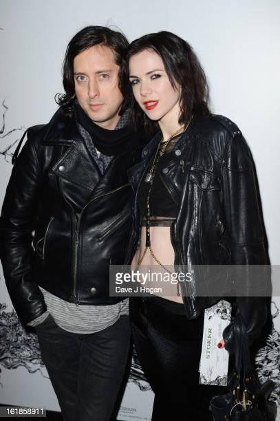 Edie Langley and Carl Barat attend a special screening of 'Stoker' at The Curzon Mayfair on February 17th 2013 in London England