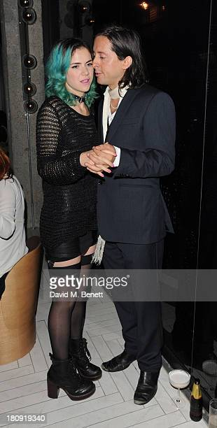 Edie Langley and Carl Barat attend the Dazed Confused October issue launch party at Chotto Matte on September 17 2013 in London England