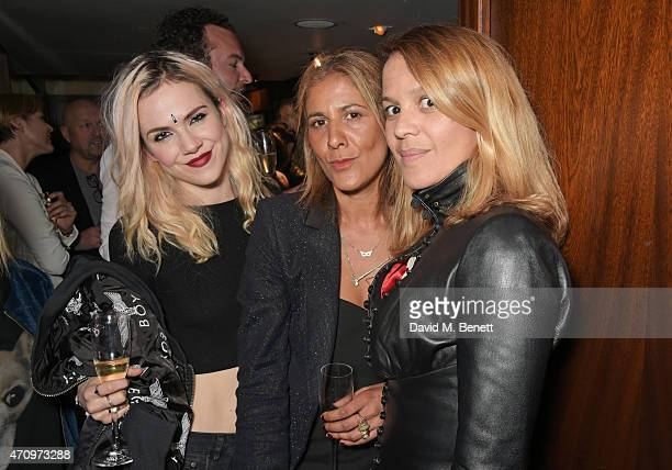 Edie Langley Azzi Glasser and Lisa Moorish attend as Collette Cooper previews songs from her upcoming album 'City Of Sin' at The Groucho Club on...