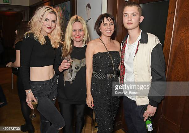 Edie Langley guest Sadie Frost and Rafferty Law attend as Collette Cooper previews songs from her upcoming album 'City Of Sin' at The Groucho Club on...