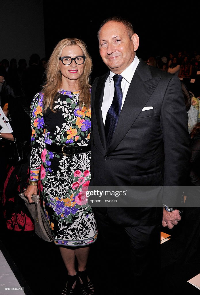 Edie Parker (L) and John Dempsey attend the Carolina Herrera fashion show during Mercedes-Benz Fashion Week Spring 2014 at The Theatre at Lincoln Center on September 9, 2013 in New York City.