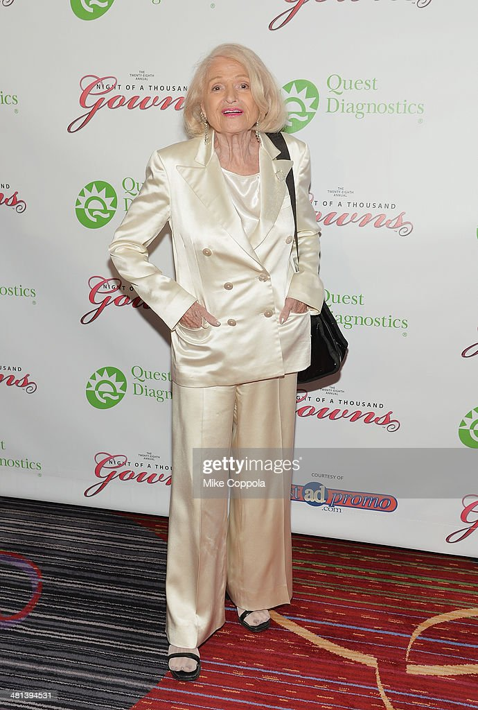Edie Windsor attends the 28th annual Night of a Thousand Gowns at the Marriott Marquis Times Square on March 29, 2014 in New York City.
