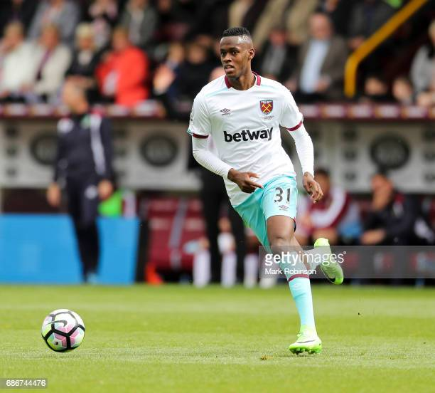 Edimilson Fernandes of West Ham United during the the Premier League match between Burnley and West Ham United at Turf Moor on May 21 2017 in Burnley...
