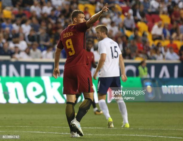 Edin Dzeko of AS Roma is seen during a friendly match between AS Roma and Tottenham Hotspur within International Champions Cup 2017 at Redbull Arena...