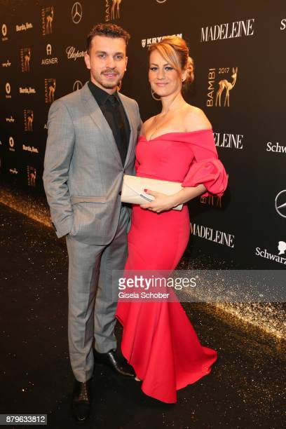Edin Hasanovic and his girlfriend Ici during the Bambi Awards 2017 at Stage Theater on November 16 2017 in Berlin Germany