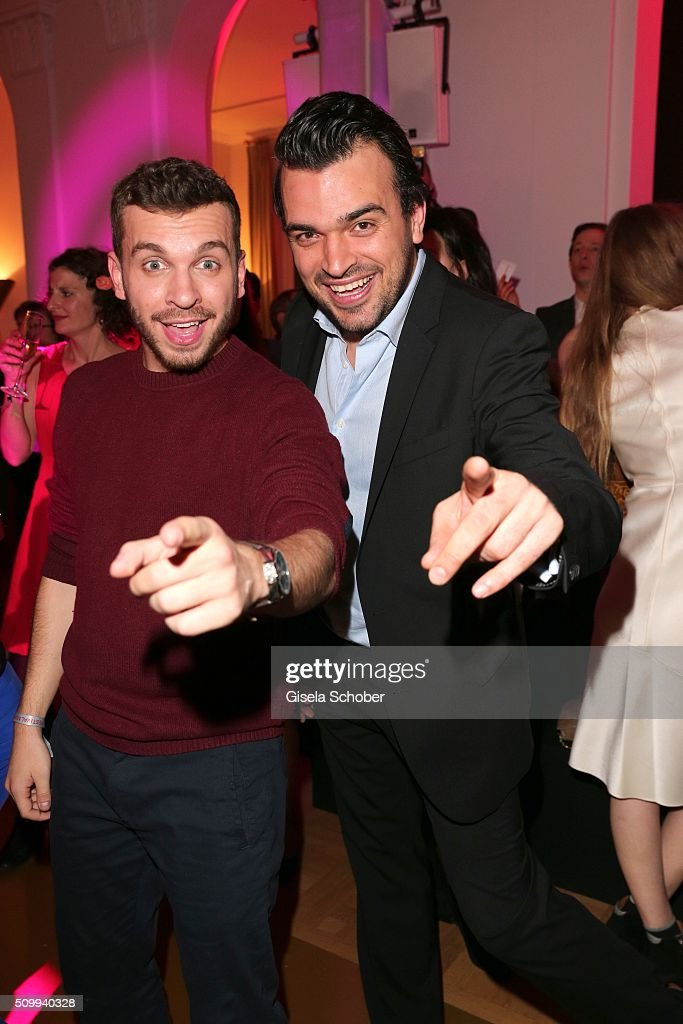 Edin Hasanovic and Tobia Render , BamS, during the Bunte and BMW Festival Night 2016 during the 66th Berlinale International Film Festival Berlin on February 12, 2016 in Berlin, Germany.