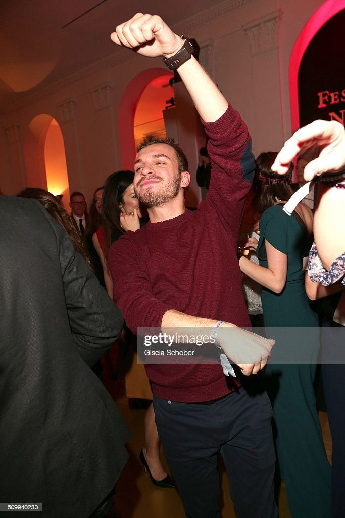 Edin Hasanovic dances during the Bunte and BMW Festival Night 2016 during the 66th Berlinale International Film Festival Berlin on February 12, 2016 in Berlin, Germany.