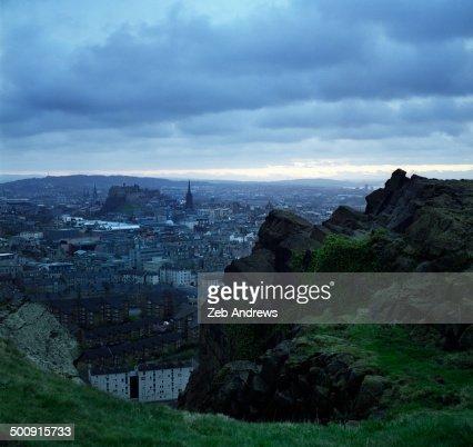 Edinburg, Scotland from the Salisbury Crags