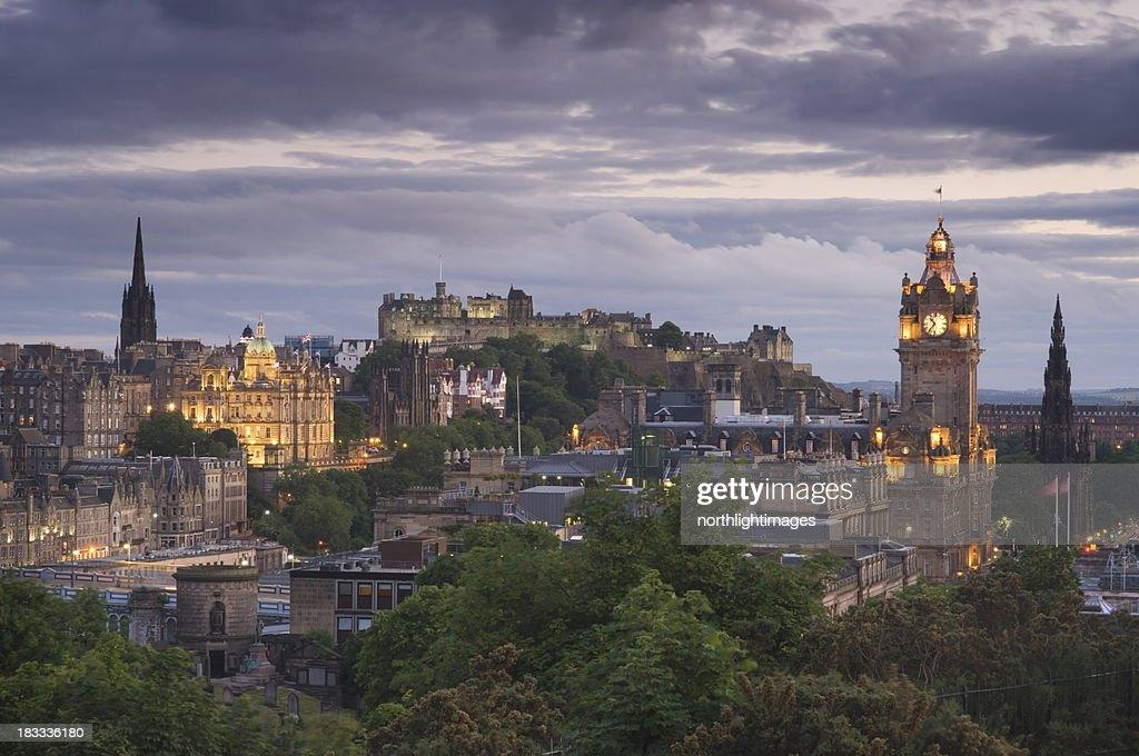 Edinburgh al atardecer : Foto de stock