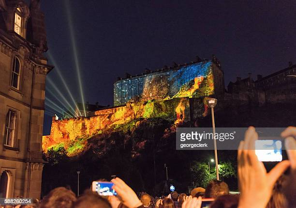 Edinburgh Castle at the start of the Edinburgh International Festival
