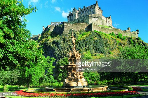Edinburgh Castle, Scotland, UK : Foto de stock