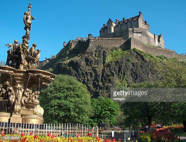 Edinburgh Castle with Fountain