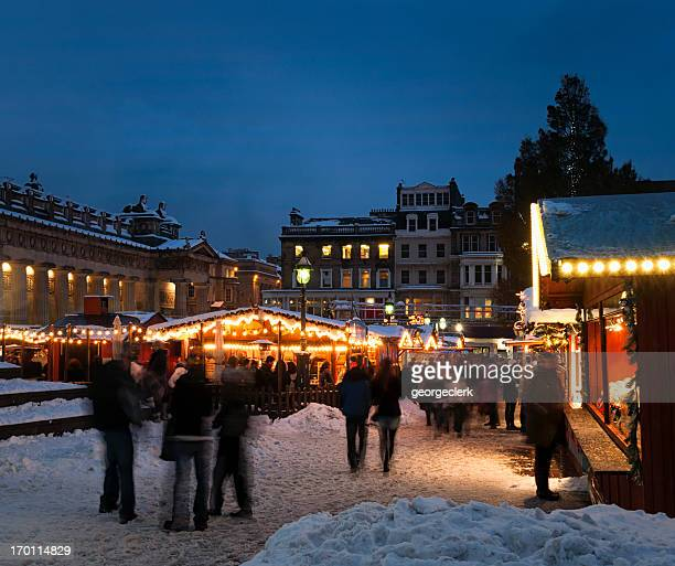 Edinburgh Christmas Market in Snow