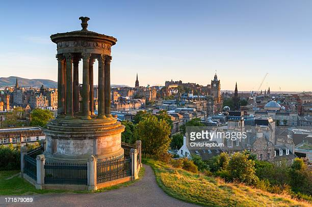 Edinburgh Cityscape from Calton Hill, Scotland