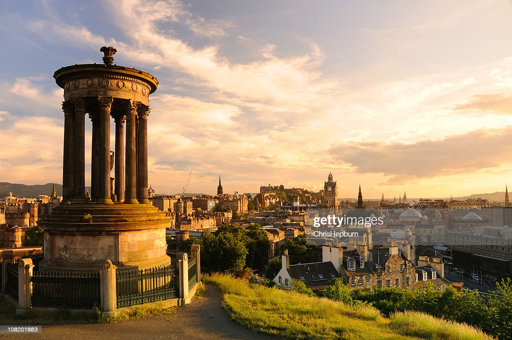 Edinburgh from Calton Hill : Stock Photo