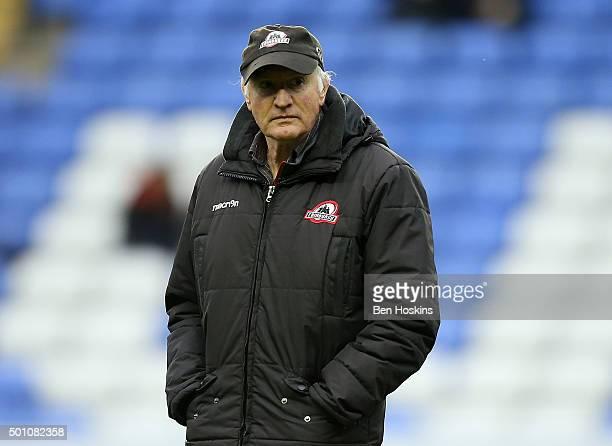Edinburgh head coach Alan Solomans looks on ahead of the European Rugby Challenge Cup match between London Irish and Edinburgh Rugby at Madejski...
