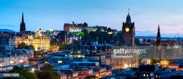 Edinburgh Panoramic Cityscape, Scotland