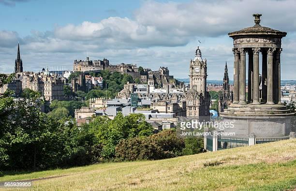 Edinburgh skyline, summer.