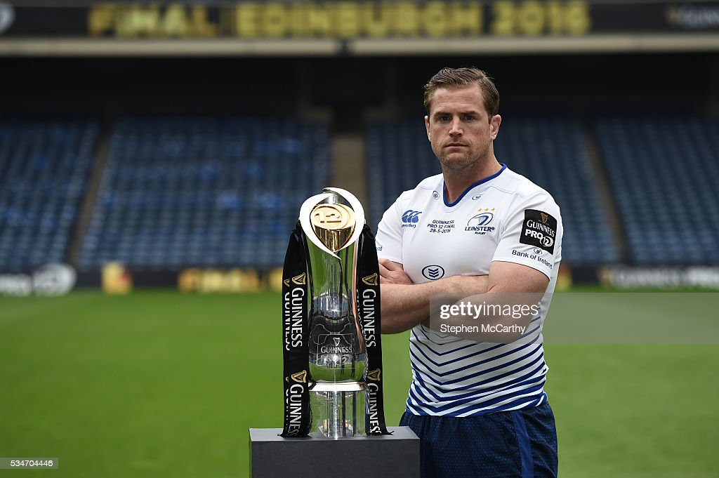 Edinburgh , United Kingdom - 27 May 2016; Leinster captain Jamie Heaslip ahead of the Guinness PRO12 Final between Leinster and Connacht at BT Murrayfield Stadium in Edinburgh, Scotland.