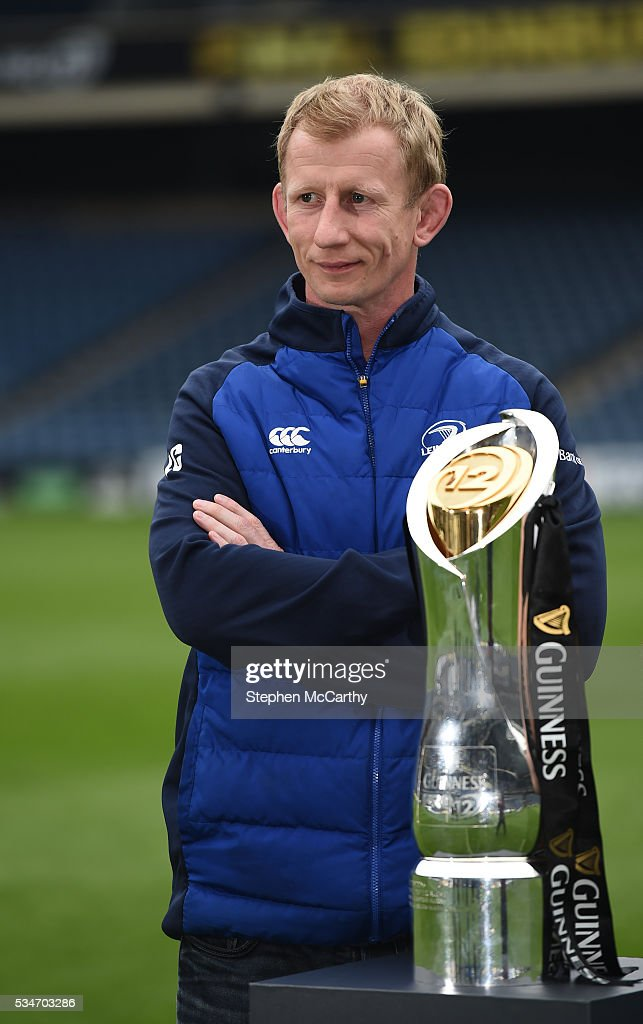 Edinburgh , United Kingdom - 27 May 2016; Leinster head coach <a gi-track='captionPersonalityLinkClicked' href=/galleries/search?phrase=Leo+Cullen+-+Rugbyspieler&family=editorial&specificpeople=4515972 ng-click='$event.stopPropagation()'>Leo Cullen</a> ahead of the Guinness PRO12 Final between Leinster and Connacht at BT Murrayfield Stadium in Edinburgh, Scotland.