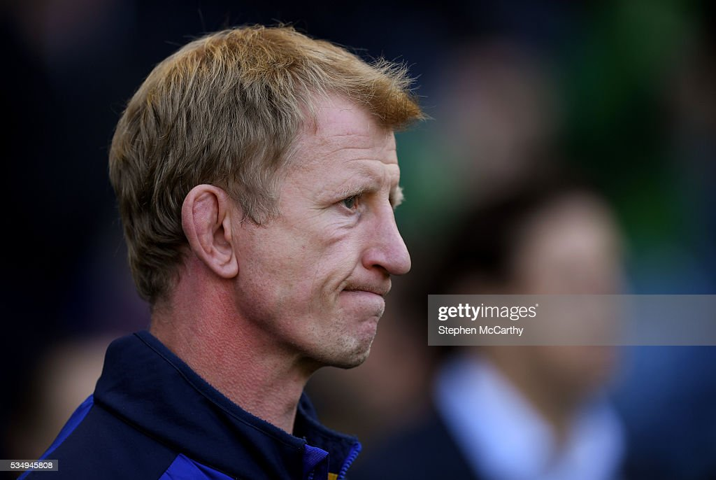 Edinburgh , United Kingdom - 28 May 2016; Leinster head coach <a gi-track='captionPersonalityLinkClicked' href=/galleries/search?phrase=Leo+Cullen+-+Rugby+Player&family=editorial&specificpeople=4515972 ng-click='$event.stopPropagation()'>Leo Cullen</a> following the Guinness PRO12 Final match between Leinster and Connacht at BT Murrayfield Stadium in Edinburgh, Scotland.
