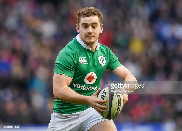 Edinburgh United Kingdom 4 February 2017 Paddy Jackson of Ireland during the RBS Six Nations Rugby Championship match between Scotland and Ireland at...