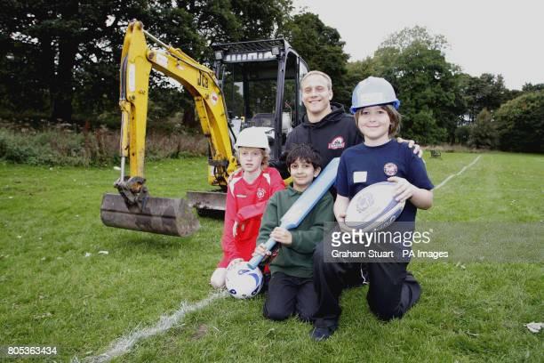 Edinburgh winger Andrew Turnbull with Connor Waugh Edinburgh South FC Shreenil Vani Edinburgh South Cricket Club and Kiran MacCafferty of Lismore RFC...