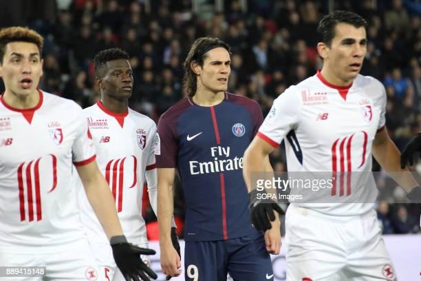 Edinson Cavani during the French Ligue 1 soccer match between Paris Saint Germain and Lille at Parc des Princes