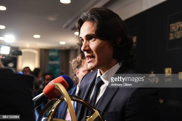 Edinson Cavani of PSG during the ceremony for the UNFP Trophy Awards on May 15 2017 in Paris France