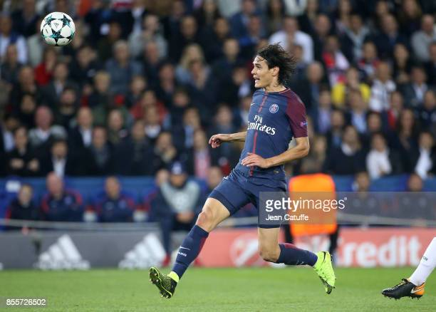 Edinson Cavani of PSG during the UEFA Champions League group B match between Paris SaintGermain and Bayern Muenchen at Parc des Princes on September...
