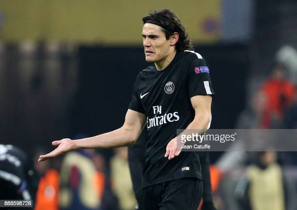Edinson Cavani of PSG during the UEFA Champions League group B match between Bayern Muenchen and Paris SaintGermain at Allianz Arena on December 5...