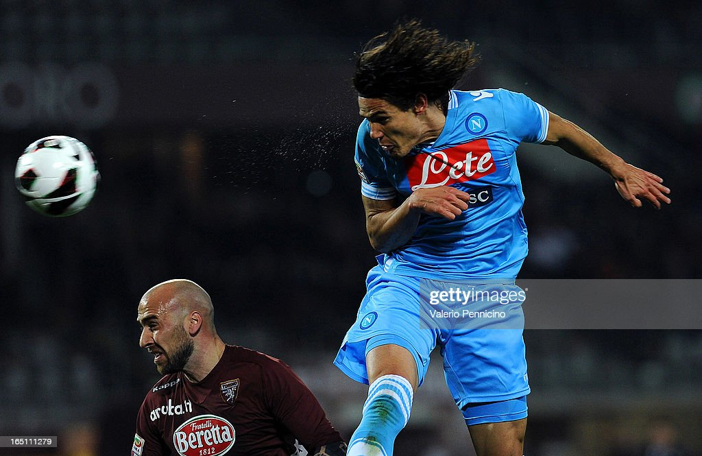 <a gi-track='captionPersonalityLinkClicked' href=/galleries/search?phrase=Edinson+Cavani&family=editorial&specificpeople=4104253 ng-click='$event.stopPropagation()'>Edinson Cavani</a> (R) of SSC Napoli scores his second goal during the Serie A match between Torino FC and SSC Napoli at Stadio Olimpico di Torino on March 30, 2013 in Turin, Italy.