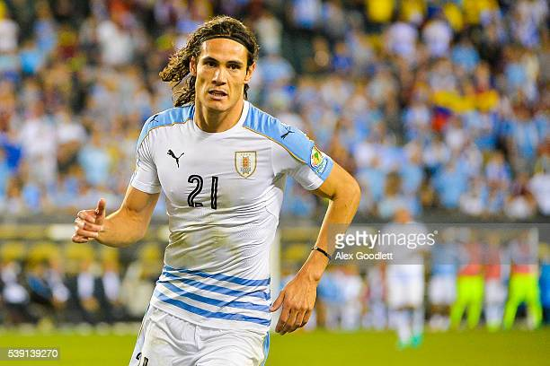 Edinson Cavani of Uruguay looks on during a group C match between Uruguay and Venezuela at Lincoln Financial Field as part of Copa America Centenario...
