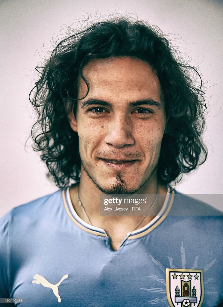 <a gi-track='captionPersonalityLinkClicked' href=/galleries/search?phrase=Edinson+Cavani&family=editorial&specificpeople=4104253 ng-click='$event.stopPropagation()'>Edinson Cavani</a> of Uruguay poses during the official FIFA World Cup 2014 portrait session on June 10, 2014 in Belo Horizonte, Brazil.