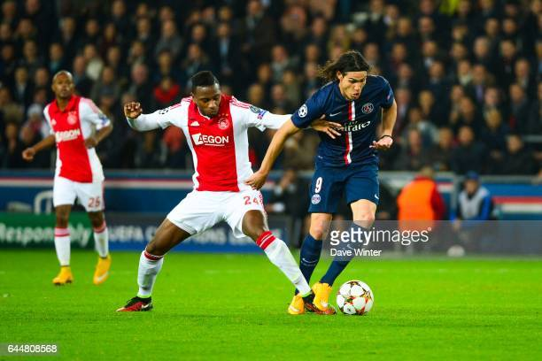 Edinson CAVANI / Stefano DENSWIL Paris Saint Germain / Ajax Amsterdam Champions League Photo Dave Winter / Icon Sport