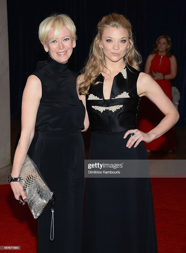 Ediorinchief of Cosmopolitan Magazine Joanna Coles and actress Natalie Dormer attend the White House Correspondents' Association Dinner at the...