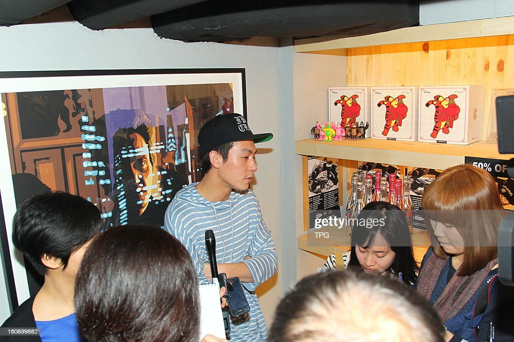 Edison Chen attended activity of his clothes brand on Wednesday February 06, 2013 in Hong Kong, China.